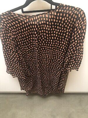 AU32.50 • Buy Witchery Rust And Black Blouse 12