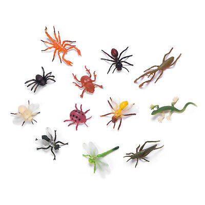 £3.58 • Buy 12pcs PVC Insect Figures Bugs Lifelike For Kids Children Educational Toys Gifts