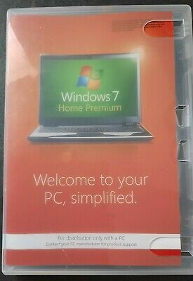 £9 • Buy Microsoft Windows 7 Home Premium With SP1 64 Bit Disc And Licence Key