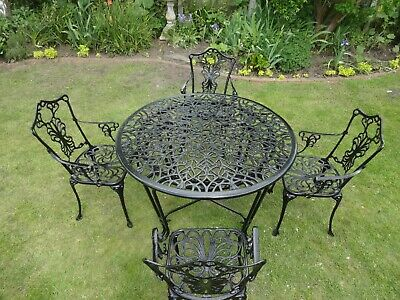 £475 • Buy Large Garden Furniture Set - Table And 4 Chairs - Cast Aluminium -