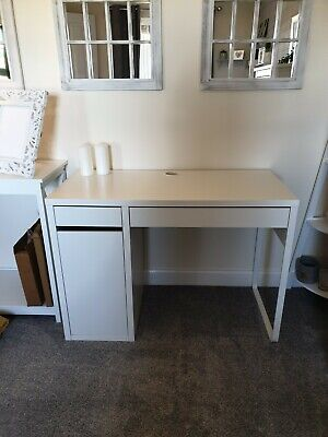 £12.50 • Buy Ikea Desk Dressing Table In White With Drawers And Cupboard