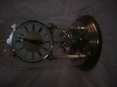 £0.99 • Buy Battery Operated Skeleton Clock With Glass Dome Made In Germany Working Order