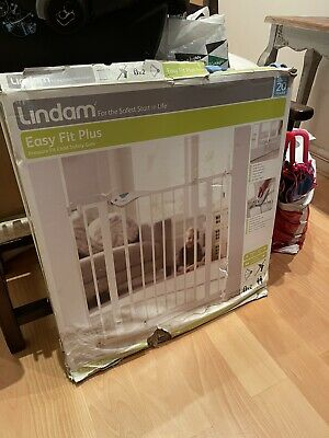 £13.20 • Buy Lindam - Easy Fit Plus - Pressure Fit Safety Gate - White - Never Used But Aged