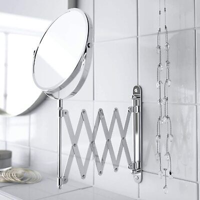 £14.95 • Buy Magnifying Wall Mounted Makeup Mirror Extending Shaving Cosmetic Double Sided