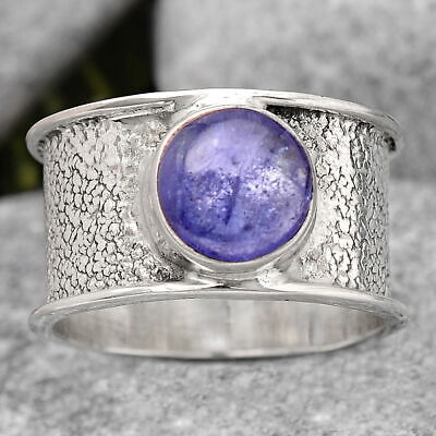 £11.47 • Buy Natural Tanzanite 925 Sterling Silver Ring S.7 Jewelry 6627