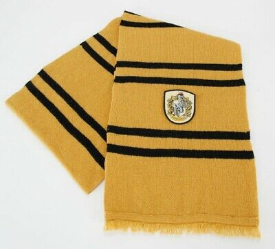 $ CDN37.34 • Buy Harry Potter House Of Hufflepuff Colors And Crest Knitted Wool Scarf NEW UNUSED