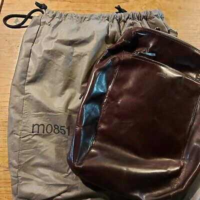 $ CDN175 • Buy M0851 Featherlight Backpack Brown Leather NEW MO851 BP 16 MINT