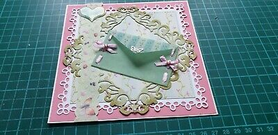 £3 • Buy Cardmaking Handmade Luxury Any Occasion Floral Topper With Vellum Envelope.