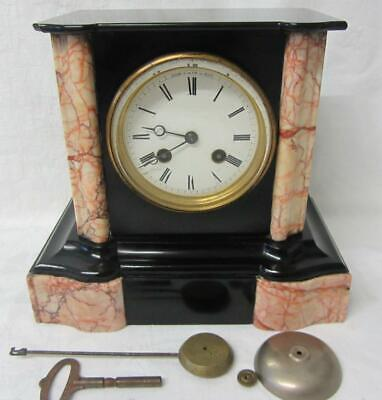 £225 • Buy Antique 19th Century French Slate & Marble Striking Mantle Clock By Henri Marc