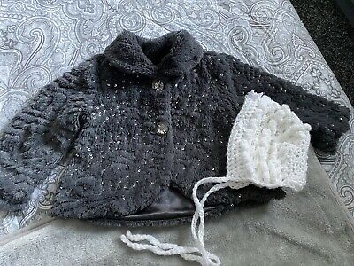 £1.80 • Buy Girls 12/18 Months Beautiful Fur Coat With Bonnet From Matalans