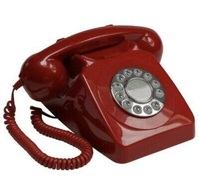 £9.60 • Buy GPO 746 PHONE - Push-button 1970s Style Retro Landline In Red.
