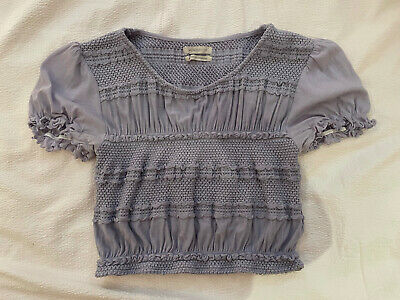 AU7.36 • Buy Urban Outfitters Blue Ruffled Crop Top M