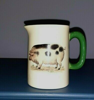 £3.50 • Buy Heron Cross Pottery 1/4 Pint Cream Jug With Pig, Good Condition