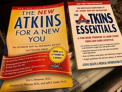 £3.54 • Buy 2 ATKINS BOOKS - The NEW Atkins And The Atkins Essentials: A Two-Week Program
