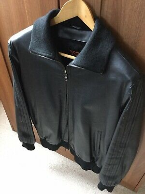 """£335 • Buy Y3 Leather Jacket  Rare Size M All Black  Great Leather Adidas Fits Like 40"""""""