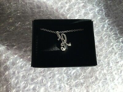 £11.50 • Buy Silver Karissa Initial Necklace 'H' Avon New