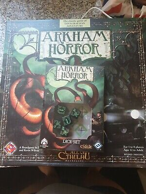 £26.70 • Buy Arkham Horror 2nd Edition Boardgame Plus Green And Black Dice Set