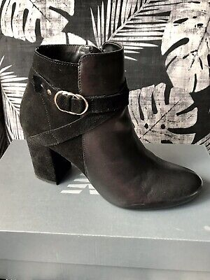 £5.50 • Buy Oasis Black Leather/Suede Ankle Boots. Size 5/38