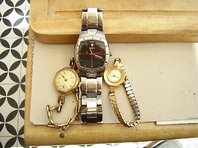 $ CDN34.29 • Buy Timex, Swiss Sport, And One Unknown, Spares Or Repairs. Wristwatches.