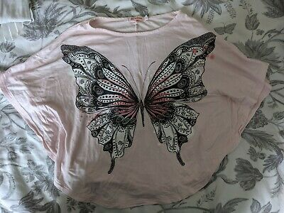£1 • Buy Pale Pink Blue Zoo Butterfly T-Shirt, Age 7-8