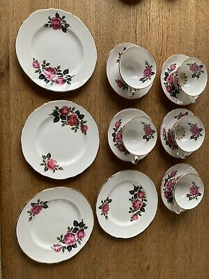£8.60 • Buy Dorchester Finest Bone China Tea/Coffee Cups, Saucers And Tea Plates