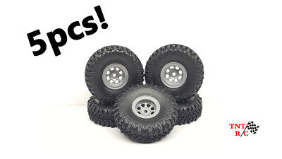 £17.54 • Buy 5pcs 1/18, 1/24 Scale R/c Rock Crawler Grabber Tires & Wheels With Free Ship!!