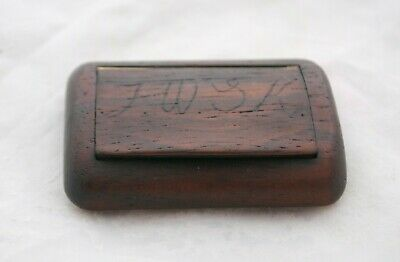 £15 • Buy Antique Hand Made Wooden Snuff Box Initialled JWSK - Repaired