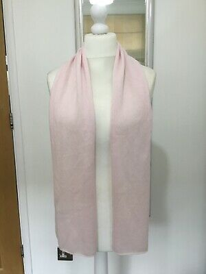 £25 • Buy BNWOT New M&S Autograph - 100% Pure Cashmere - Pale Pink Scarf - Free Postage