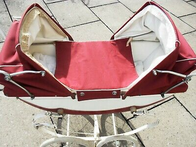 £120 • Buy Swallow Vintage Coach Built Dolls Twin Pram With Bag