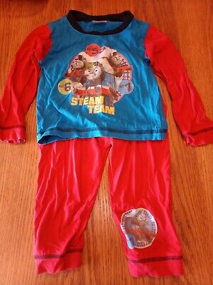 £1.10 • Buy Boys Thomas The Tank Engine Red And Blue Long Sleeved Pyjamas 18-24 Months