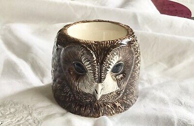 £9.99 • Buy Quail Pottery Tawny Owl Egg Cup Bird Figurine Hand Painted