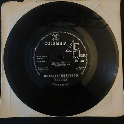 £1 • Buy  The Animals – The House Of The Rising Sun (1964) [7  VINYL] / Cond: Good Plus