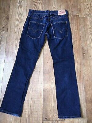 £8.95 • Buy Vintage Levis Jeans Mens Size W34 L34 Slim Fit Cinch Back Faded Distressed Look