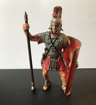 £3.20 • Buy Good Quality Plastic Standing Toy Roman Centurion - Toy Soldier - Red 10cm Tall