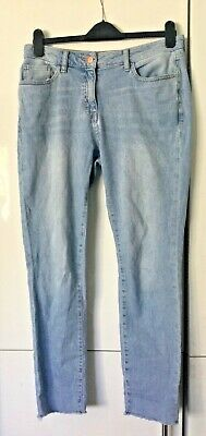 £10.99 • Buy  Next Relaxed Skinny Frayed Hem Jeans   Size 12   Leg   28 Inches