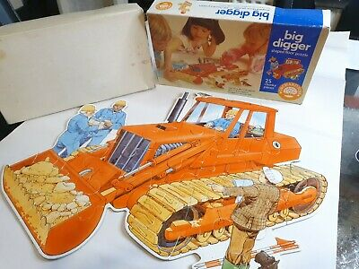 £4 • Buy VINTAGE, 1986 Orchard Toys, Shaped Floor Puzzle *BIG DIGGER*