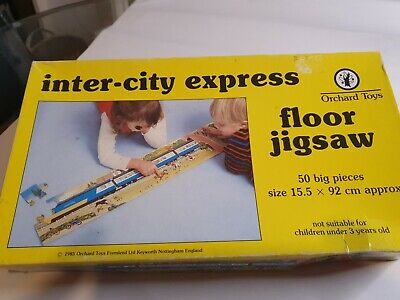 £2.40 • Buy Vintage Intercity Express Train Jigsaw Orchard Toys Floor Puzzle 1985 50pc