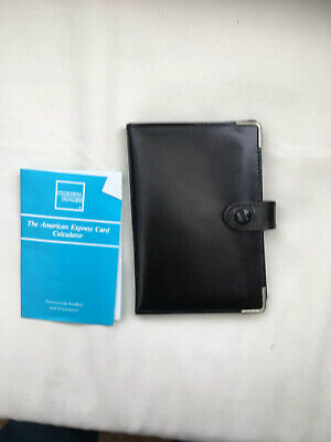 £19.99 • Buy American Express Credit Card Style Calculator/black Wallet 1990's New  RARE