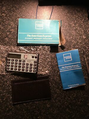 £9.65 • Buy  American Express Credit Card  Calculator From The Early 90's New Original Bnib