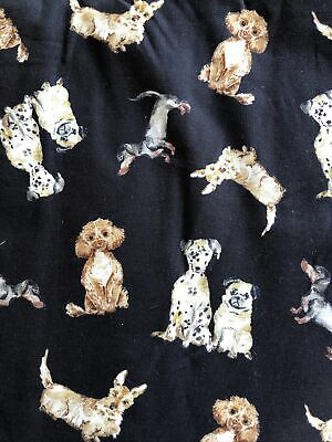 £7 • Buy Remnant Michael Miller's Paws Up - Dog Friendly - Cotton Fabric - 17  X 42 (WOF)