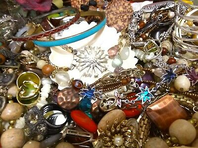 $ CDN48.71 • Buy Vintage To Now Jewelry Lot Necklaces Rings Brooches Bracelets Earrings Lot 1369