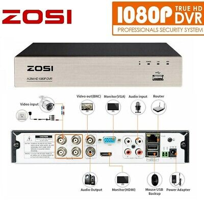 £36 • Buy ZOSI 4CH 1080p DVR Digital Video Recorder For CCTV Security Camera System H.264