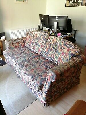 £20 • Buy Large Double Sofa Bed Seat 3, On Wheels 74 Wide. Quality Frame And Mattress