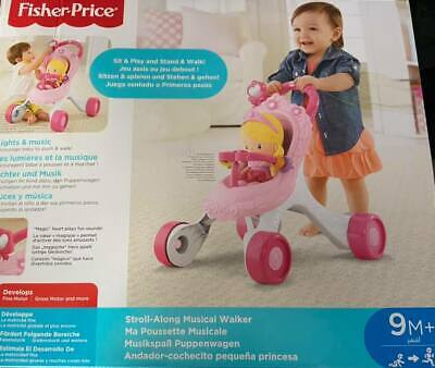 £29.95 • Buy Fisher-Price Princess Mommy Stroll-Along Musical Baby Walker With Activities