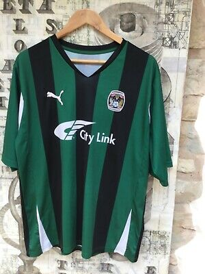 £11.99 • Buy Coventry City FC Away Shirt Jersey PUMA 2010 + The Sky Blues Adult/men SIZE L