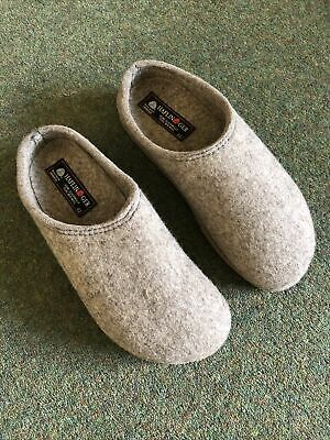 £40 • Buy Haflinger Mens Travel Clog In Taupe Pure Wool Size Is Uk7 Eu42