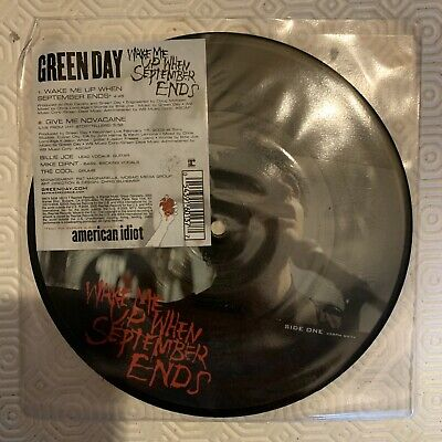 """£5 • Buy Green Day. Wake Me Up When September Ends 7"""" Picture Disc Vinyl"""