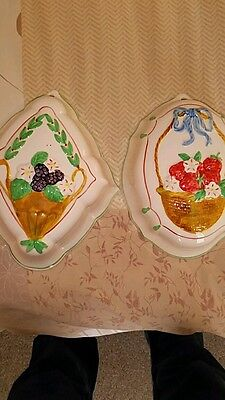 £7 • Buy Pair Of Moorland Pottery Jelly Moulds