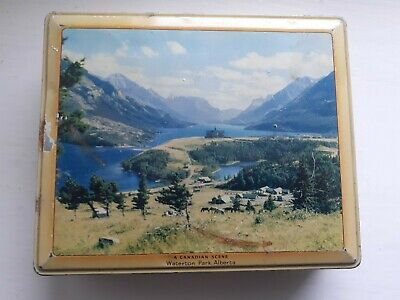 £4.99 • Buy Vintage Rileys Toffee Tin With Canadian Scene