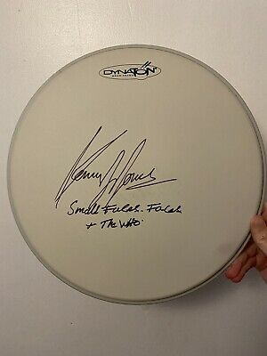"""£69.99 • Buy Kenney Jones Signed Drum 12"""" The Who Small Faces Faces Autograph Inscription"""